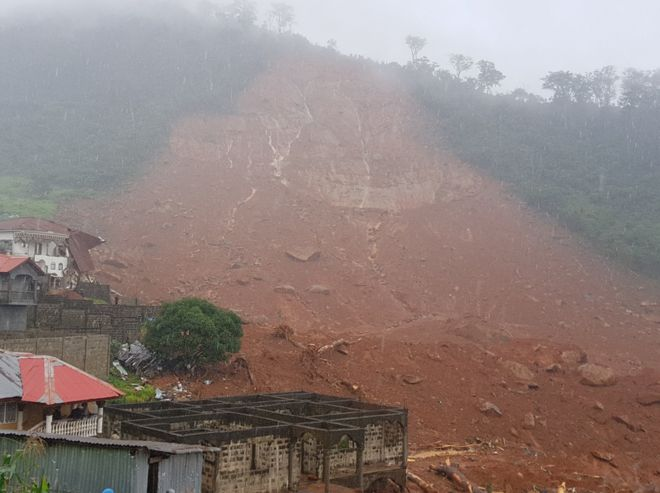 Over 300 killed, 2000 homeless as mudslides sack Sierra Leone