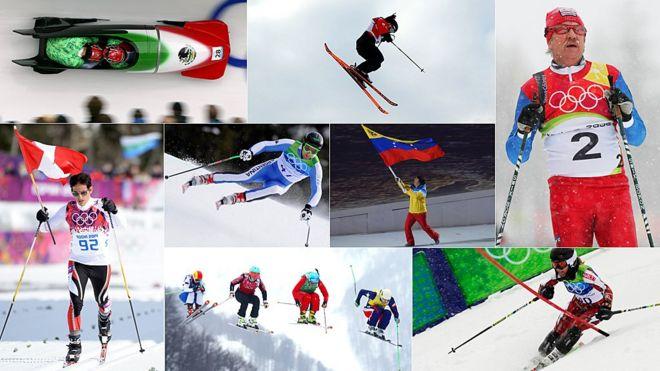 Representantes latinoamericanos en las olimpiadas de invierno.