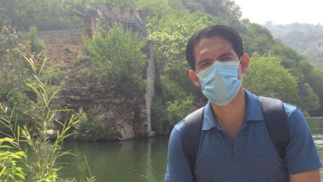 Michael el 5 de mayo de 2020, en el sector de Huanghuacheng de la Muralla china, aprovechando los cinco días festivos por el Día del Trabajo.