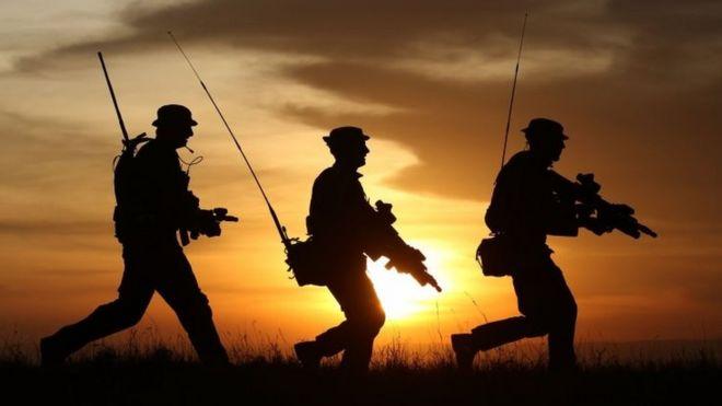 британские военные учения