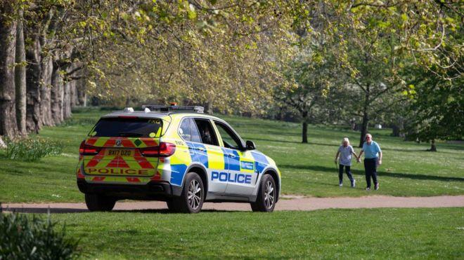 Полиция в лондонском парке
