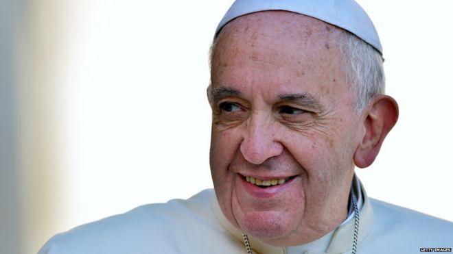 Папа Фрэнсис выстрелил 26 августа 2015 года
