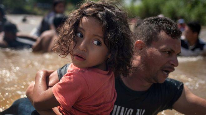 Migrant caravan heading through Mexico 2018