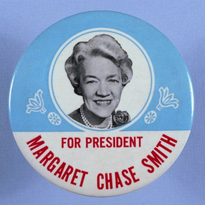 Pin button for Margaret Chase Smith