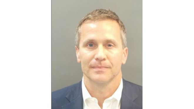Missouri Governor Eric Greitens was taken into custody on Thursday