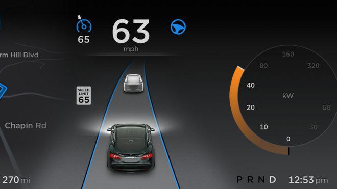 Tesla Self Drive Mode Filmed Endangering Passengers Bbc News