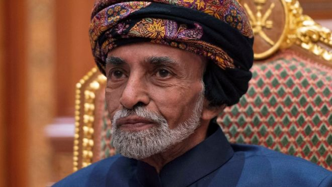 Sultan of Oman at the Beit Al Baraka Royal Palace in Muscat on 14 January 2019