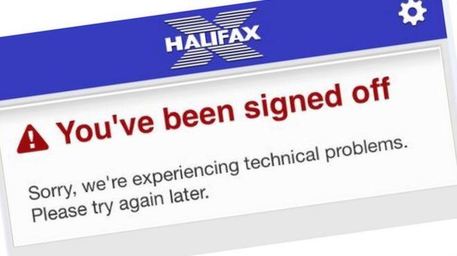Lloyds online banking problems enter second day bbc news halifax app screen grab colourmoves