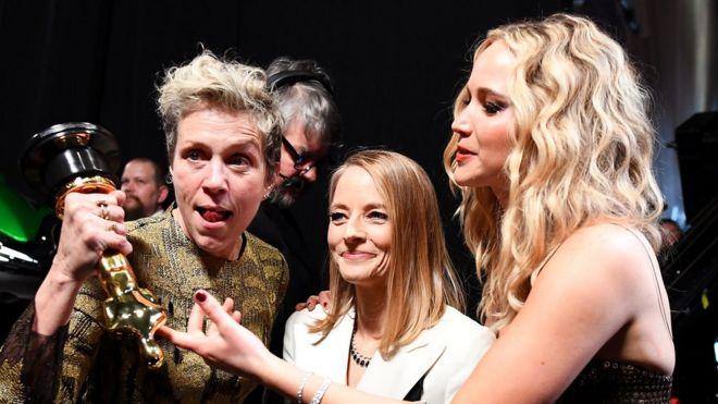 Frances McDormand, Jodie Foster y Jennifer Lawrence