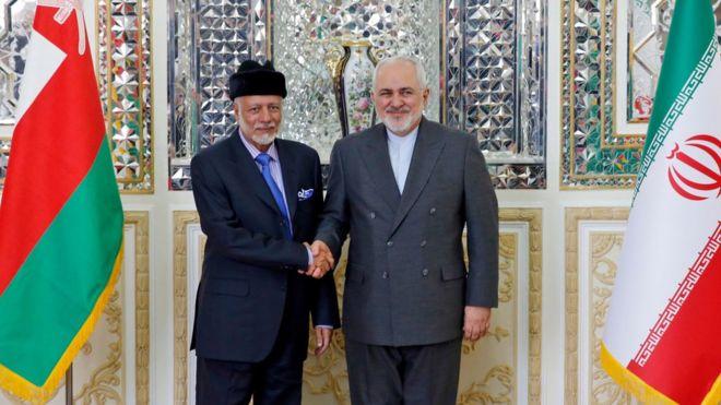 وزرای خارجه ایران و عمان