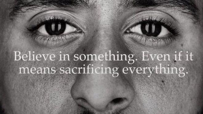 competitive price ef012 3e778 Nike advert featuring Colin Kaepernick
