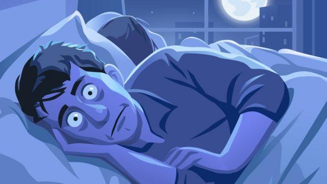 sleepless man