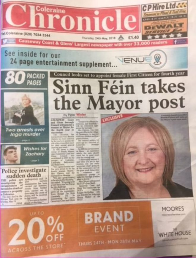 Weekly Papers Town Twinning Stolen Parrot And Elvis In Downpatrick