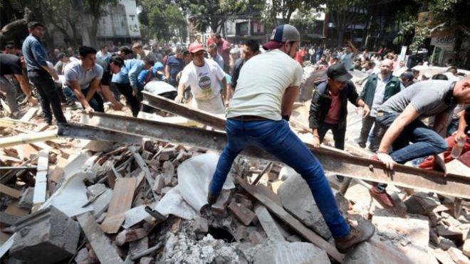 نتيجة بحث الصور عن زلزال قوي وسط المكسيك