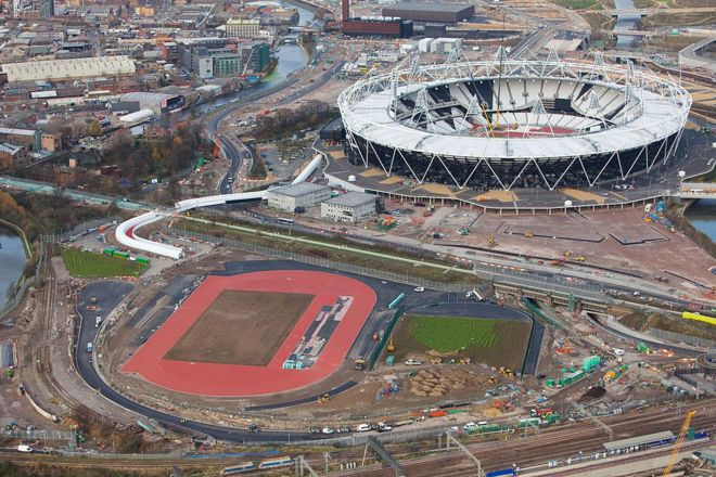 An Aerial View Of The Olympic Park In 2012