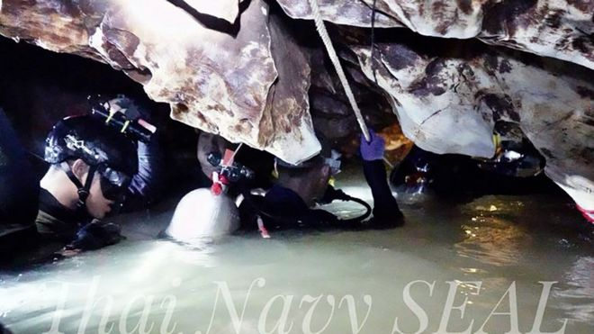 Thai Navy Seals in the cave