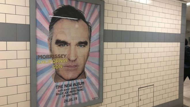 Morrissey posters removed from Merseyrail stations - BBC News