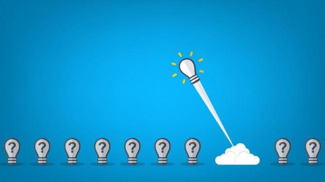 Ilustración lamparitas con ideas.