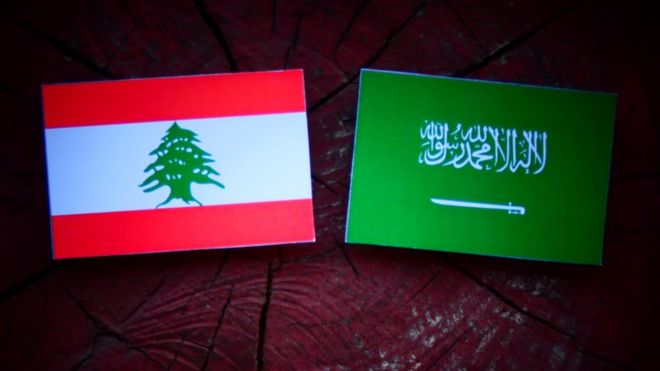 پرچم عربستان سعودی و لبنان