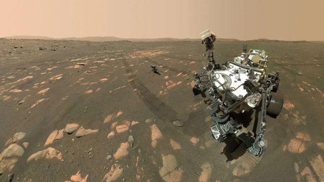 El robot Perseverance en Marte