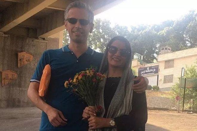 حمید بابایی و همسرش