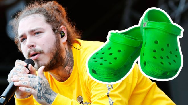 374495acf Post Malone s Crocs and other strange celebrity endorsements - BBC News