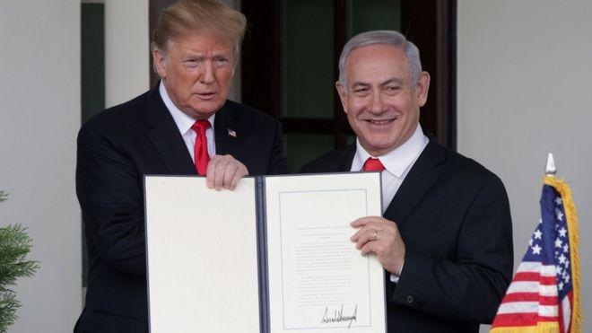 ترامب: حان وقت اعتراف أمريكا بسيادة إسرائيل على الجولان _106176147_hi053170233