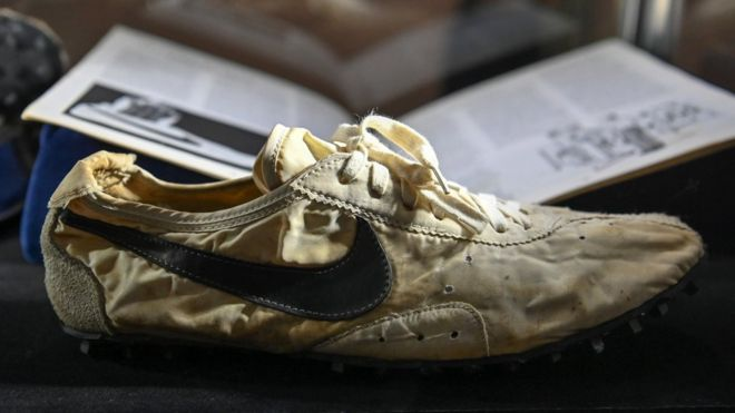 Sotheby's auction of rare sneakers nets more than $850,000 - BBC News