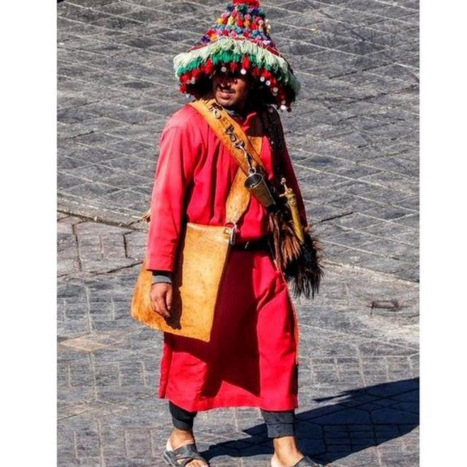 Ənənəvi berber geyimi.