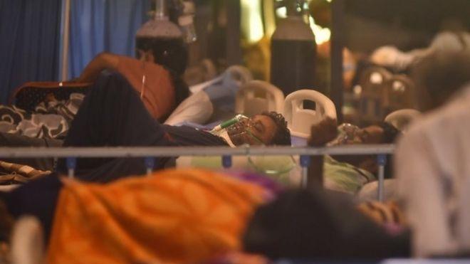 Pacientes de covid-19 em Nova Déli