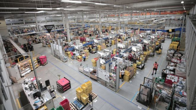 Staff at Amazon's Swansea warehouse 'treated like robots