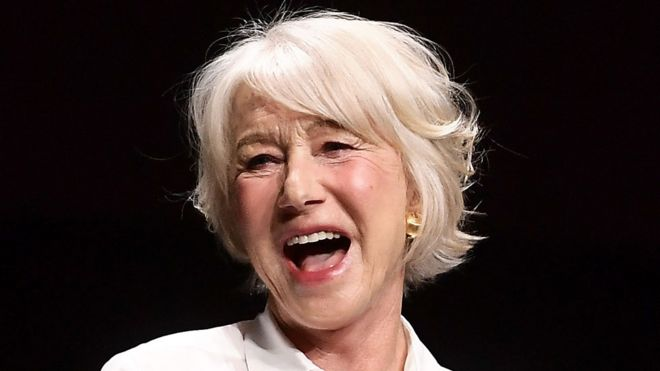 Dame Helen Mirren gives Netflix short shrift at Cinema-Con - BBC News