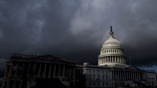 Dark clouds over US Capitol