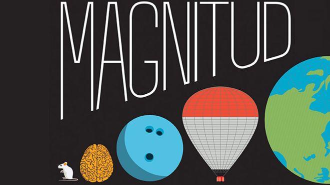 Detalle de la portada del libro Magnitud: la escala del Universo