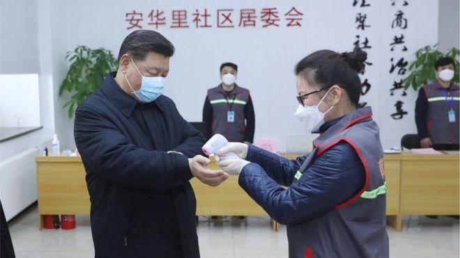 习近平在北京视察防疫情况