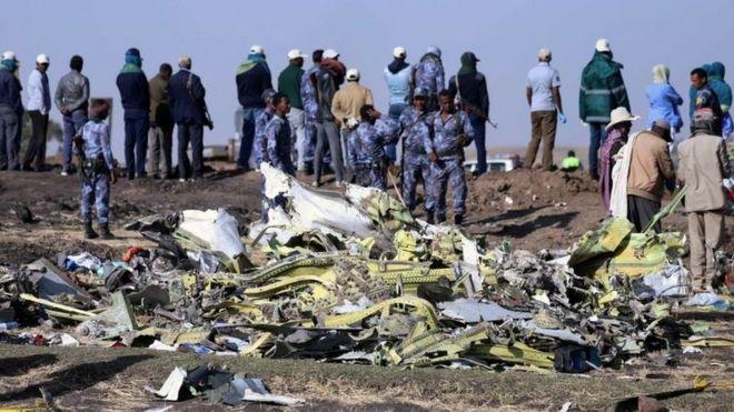 Local do acidente com voo da Ethiopian Airlines