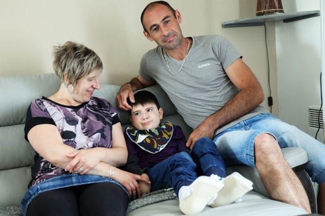 Nolan with parents
