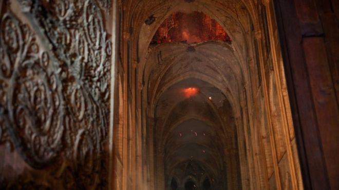 Imagen del interior de Notre Dame