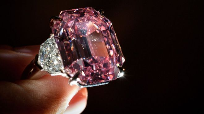 Pink Legacy Diamond Sold For World Record Price Bbc News