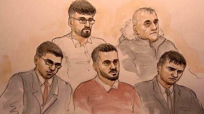 L-R : Nazam Akhtar, Mohammad Rizwan, Mohammed Ali Sultan, Amjad Hussain, Shafiq Younas