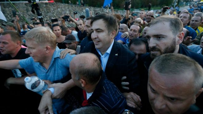 Stateless ex-leader Saakashvili to try to enter Ukraine