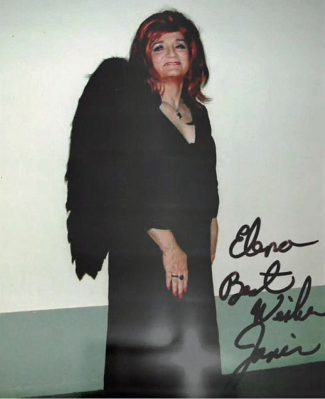 A signed photograph from Janis to Elena