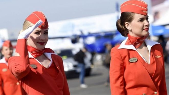 "Résultat de recherche d'images pour ""ملابس مضيفات شركة طيران روسية"""