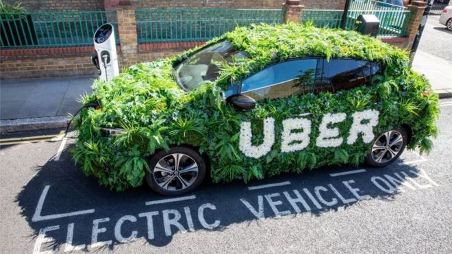 London Uber Fares Go Up After Electric Car Charge Bbc News