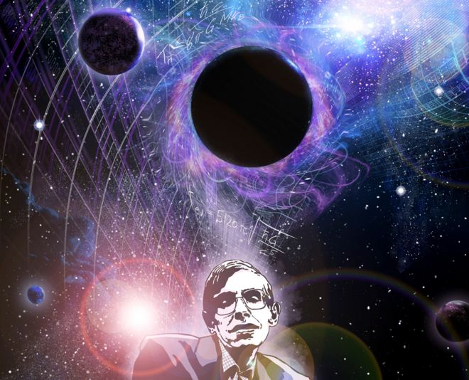 Stephen Hawking artwork