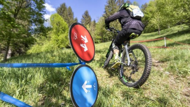 ab212795fea Ebike challenge Image copyright Bosch. An electric mountain bike ...