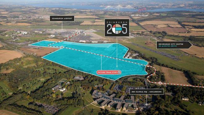 68373b8ac52e0c Edinburgh Airport gateway site goes up for sale - BBC News