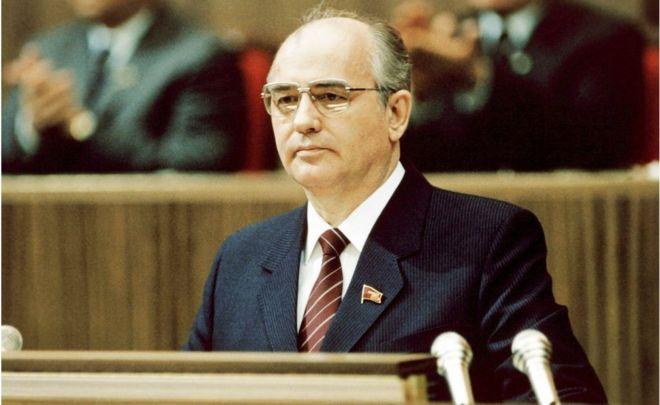 Mikhail Gorbachev, Russian communist leader in 1986