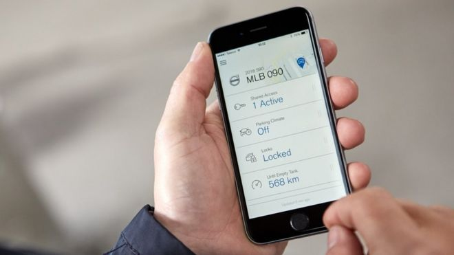 Volvo tries out 'keyless car' app in Sweden - BBC News