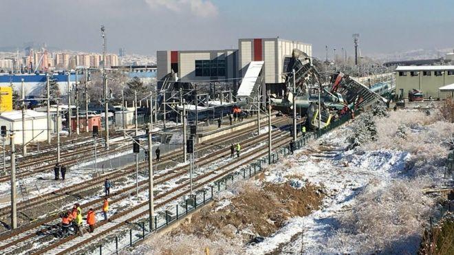 Ankara'da yüksek hızlı tren kazası -(14 Aralık 2018)